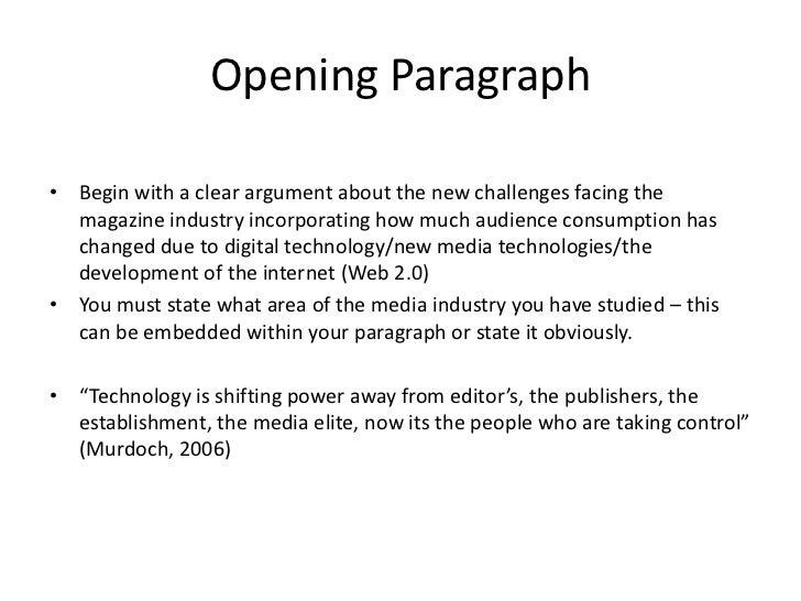 On, Bill Argumentative Essay On New Media raft then goes