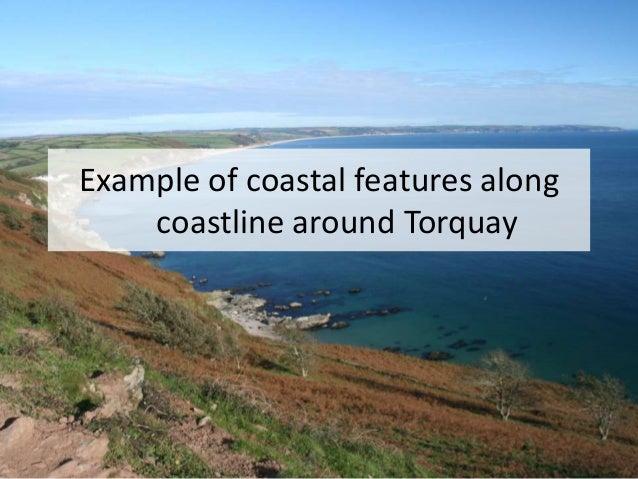 Example of coastal features along coastline around Torquay