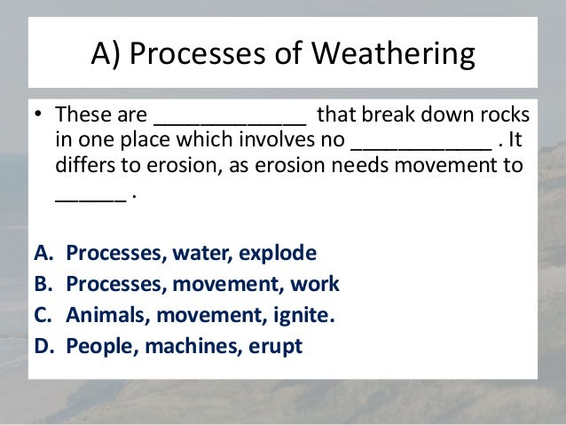 L2 ap weathering and mass movementn 1 physical freeze thaw freeze thaw weathering ccuart Choice Image