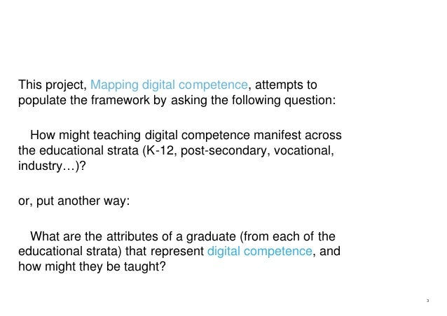 Mapping digital competence Slide 3
