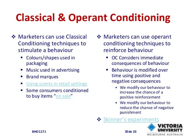 classical conditioning theory in consumer behaviour
