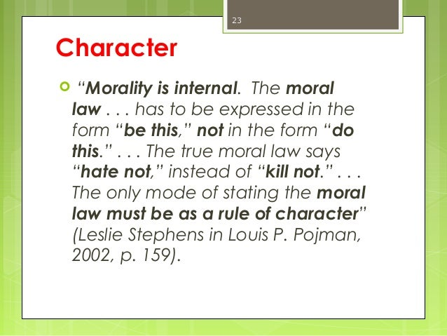 thiroux's truth Thiroux's five basic moral principles necessary to the creation  the principle of telling the truth for the importance of honest communica²on between.