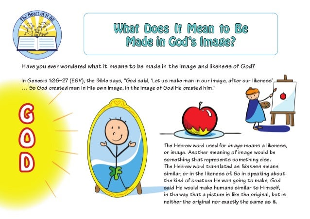 Have you ever wondered what it means to be made in the image and likeness of God?  In Genesis 1:26–27 (ESV), the Bible say...