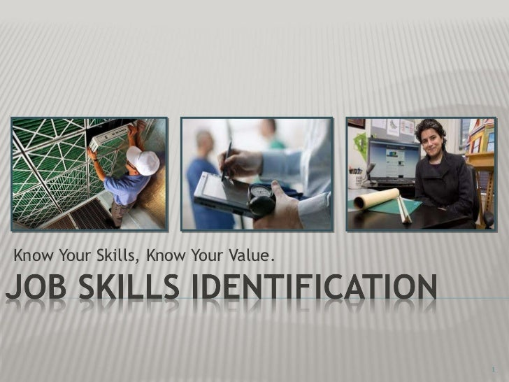Know Your Skills, Know Your Value.