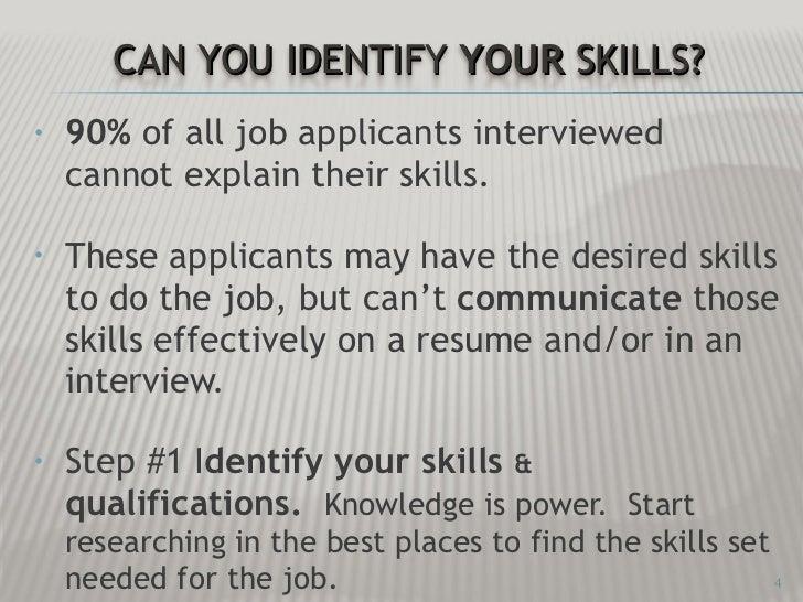 desired job skills