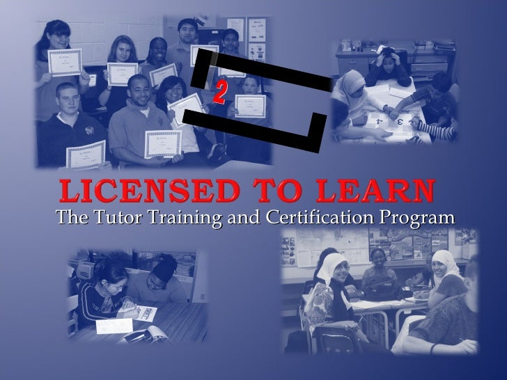 The Tutor Training and Certification Program 2