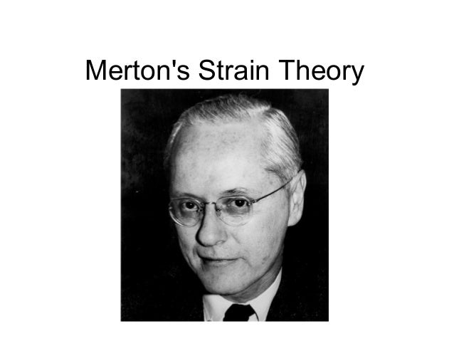 mertons strain theory