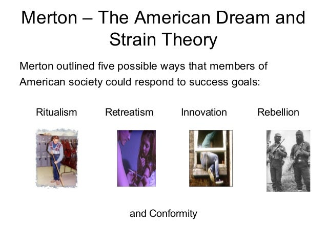 robert merton stain theory Free essay: robert merton's theory of anomie it is rightfully argued that crime,  whether or  merton's strain theory is an adaptation of durkheims earlier theory.