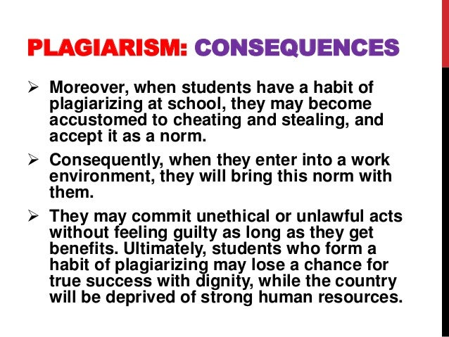 The benefits and issues of plagiarism in students