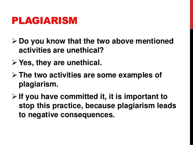 plagiarism in an academic setting Note that plagiarism, fabrication of research results, and other such violations of academic integrity may correctly be identified as particular kinds of cheating examples of cheating include, but are not limited to, the following:.