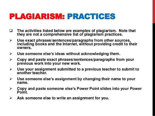 Examples Of Plagiarism Roho4senses