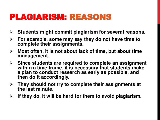 Reasons students commit plagiarism american exceptionalism essay