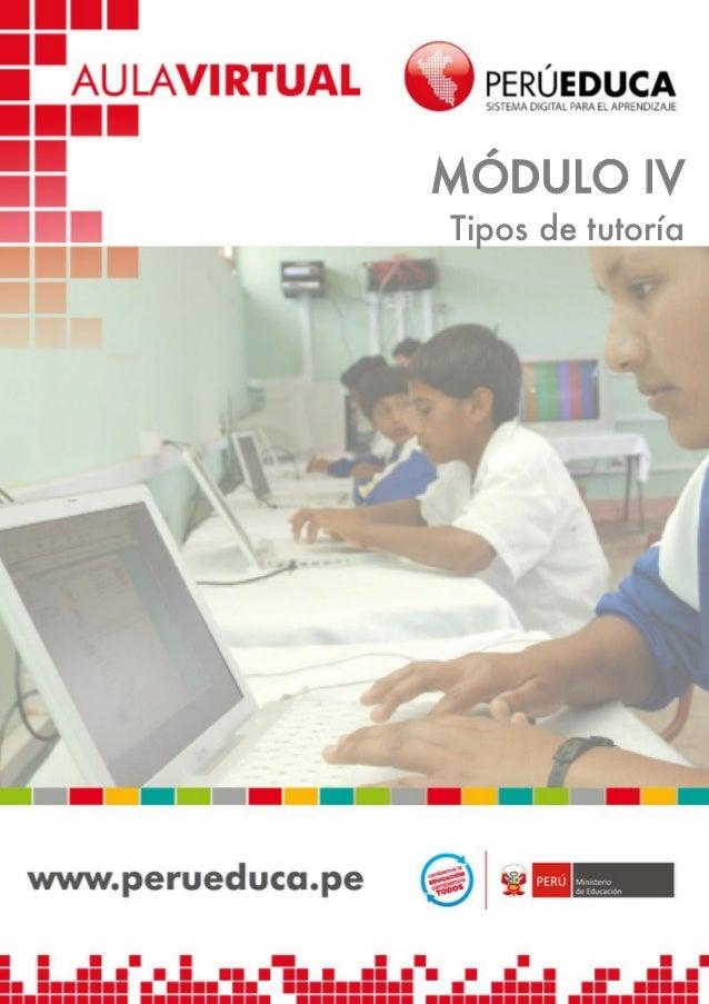 MÓDULO IV Tipos de tutoría  1