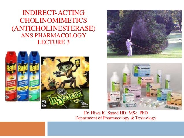 INDIRECT-ACTING CHOLINOMIMETICS (ANTICHOLINESTERASE) ANS PHARMACOLOGY LECTURE 3 Dr. Hiwa K. Saaed HD, MSc. PhD Department ...