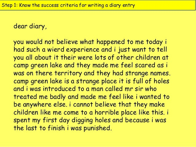 Creative Writing Diary Entry Essays
