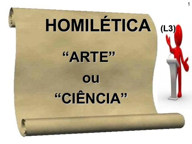 """HHOOMMIILLÉÉTTIICCAA ((LL33))  """"""""AARRTTEE""""""""  oouu  """"""""CCIIÊÊNNCCIIAA""""""""  1"""