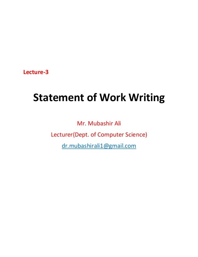 How to Write the Project Statement of Work (SOW)