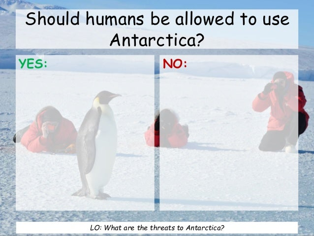 threats to antarctica 4 main threats to antarctica tourism: strange as it may be antarctica is gradually developing into a popular tourist destination this is because people who have been around the world and seen places like niagara falls and ayers rock and other natural phenomena's like the idea of going to antarctica and getting photos of penguins etc.