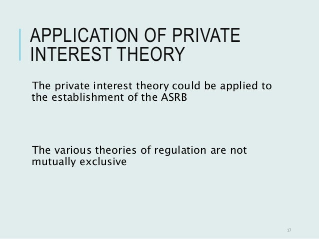"""private interest theory of accounting regulation Accountancy profession, regulation, and topics discussed in this paper  gave  rise to """"public interest theory,"""" which views the intervention of government in the   discussed how accounting helps to shape public and private interests25."""