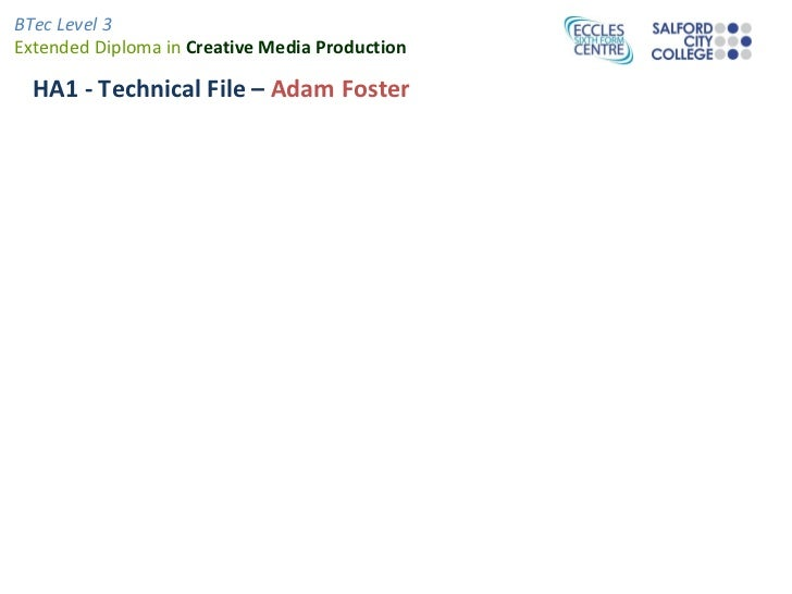 HA1 - Technical File –  Adam Foster