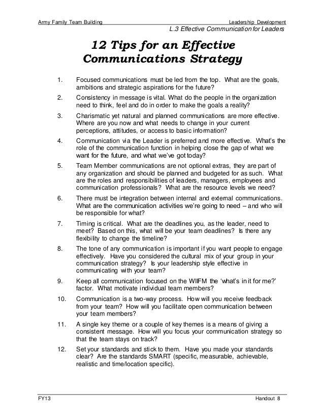 Basic Communication Worksheet