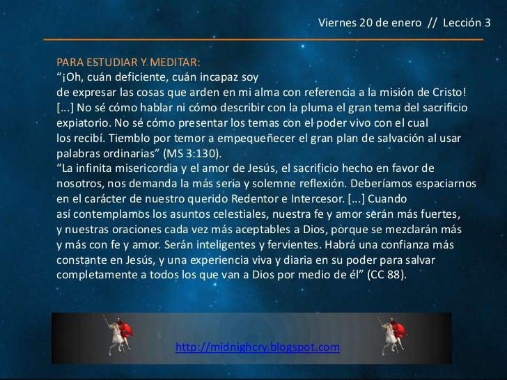Leccion n 3 dios como redentor for Exterior no es la voz es clamor desde el alma