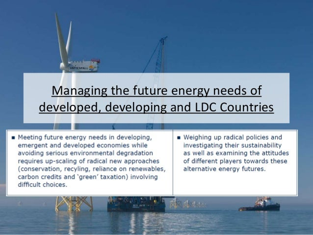 Managing the future energy needs of developed, developing and LDC Countries