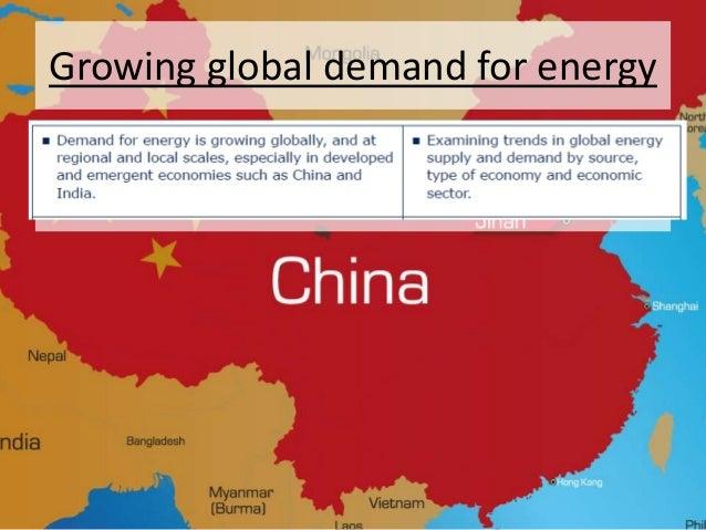 Growing global demand for energy