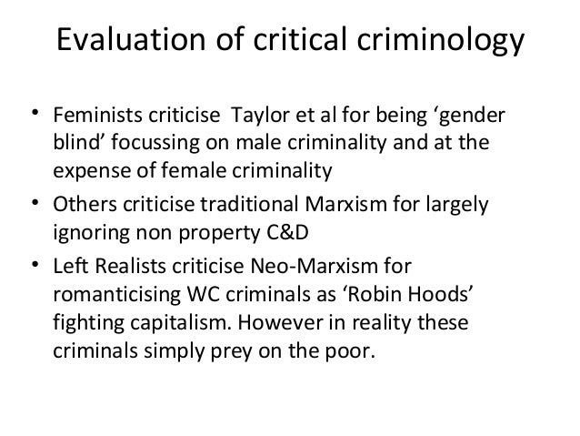 critically evaluate the marxist perspsctive of In sociology and political philosophy, the term critical theory (or social critical theory) describes the neo-marxist philosophy of the frankfurt school, which was developed in germany in the.