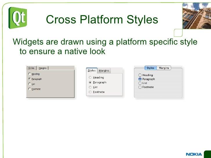 Lets widgets adapt to user settings </li></ul>