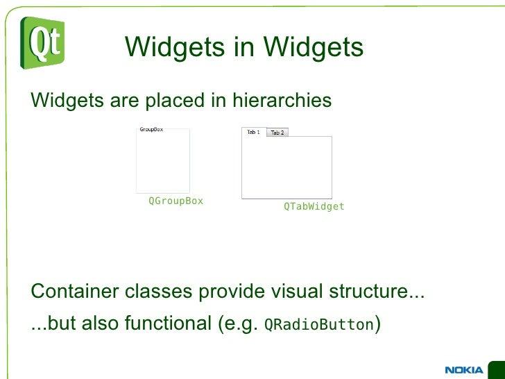 46 widgets in Designer