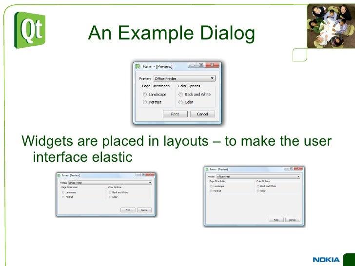 Widgets in Widgets <ul><li>Widgets are placed in hierarchies