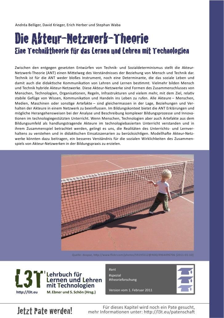 Andréa Belliger, David Krieger, Erich Herber und Stephan WabaDie Akteur-Netzwerk-TheorieEine Techniktheori...
