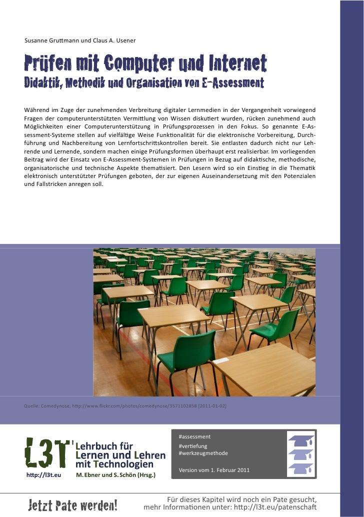 Susanne GruFmann und Claus A. UsenerPrüfen mit Computer und InternetDidaktik, Methodik und Organisation von E-As...