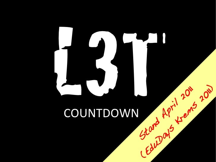 COUNTDOWN  (S ....   ta vo     nd n               L3T       A 10         ug b           us is             t 6             ...
