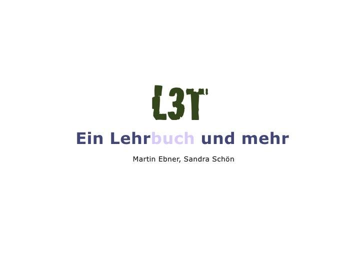 Ein Lehrbuch und mehr     Martin Ebner, Sandra Schön