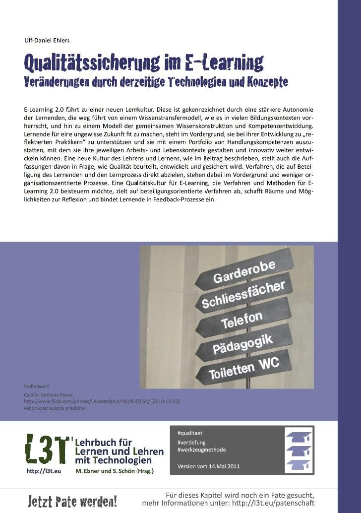 Ulf-‐Daniel EhlersQualitätssicherung im E-LearningVeränderungen durch derzeitige Technologien und KonzepteE-‐Learning...