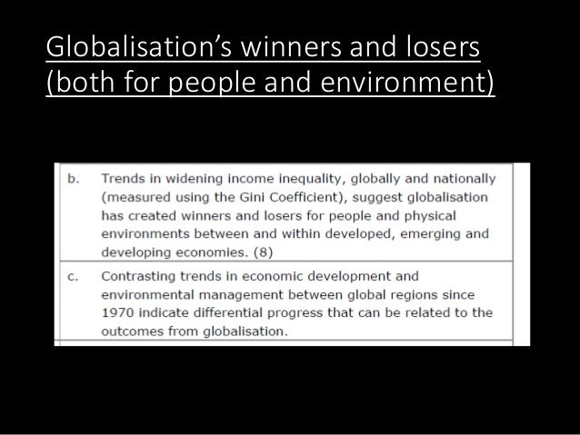 Globalisation's winners and losers (both for people and environment)