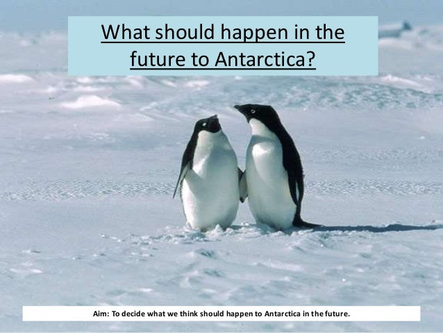 what is the future of antarctica What is the future of antarctica the fifth biggest continent in the world and 10% of its total land area is being destroyed simply because of humans.