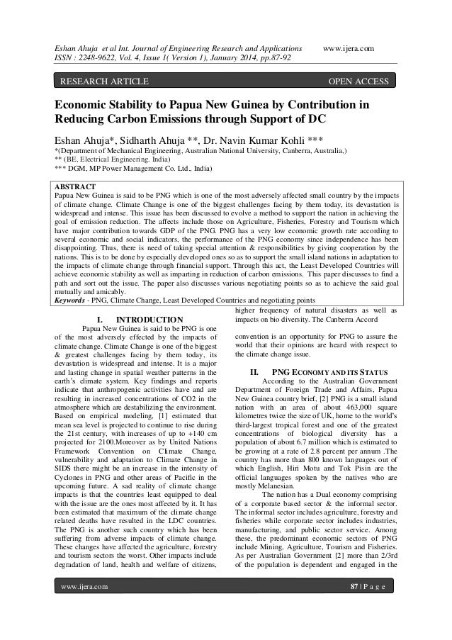 Eshan Ahuja et al Int. Journal of Engineering Research and Applications ISSN : 2248-9622, Vol. 4, Issue 1( Version 1), Jan...