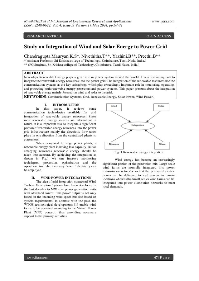 Nivethitha.T et al Int. Journal of Engineering Research and Applications www.ijera.com ISSN : 2248-9622, Vol. 4, Issue 5( ...