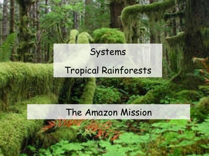 Systems Tropical Rainforests The Amazon Mission
