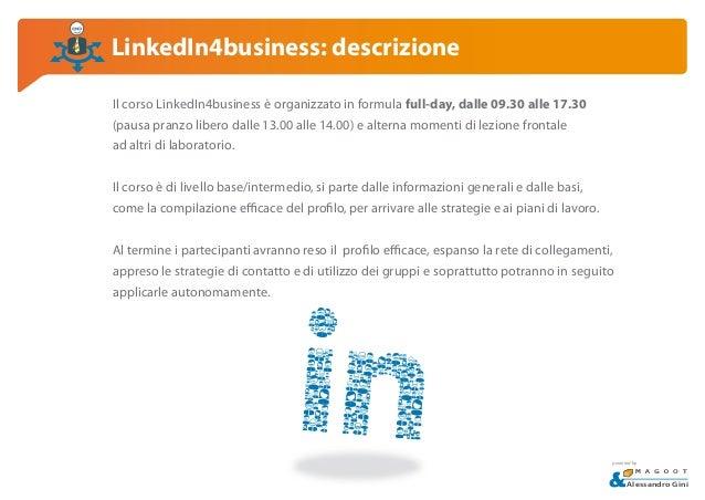 Corso LinkedIn per il business | Milano, 5 Marzo 2015 Slide 3