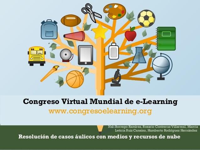 Congreso Virtual Mundial de e-Learning  www.congresoelearning.org  Nali Borrego Ramírez, Rosario Contreras Villarreal, Mar...