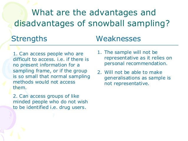 what is snowball sampling During the past two decades we have witnessed a rather impressive growth of theoretical innovations and conceptual revisions of epistemological and methodological approaches within constructivist-qualitative quarters of the social sciences.