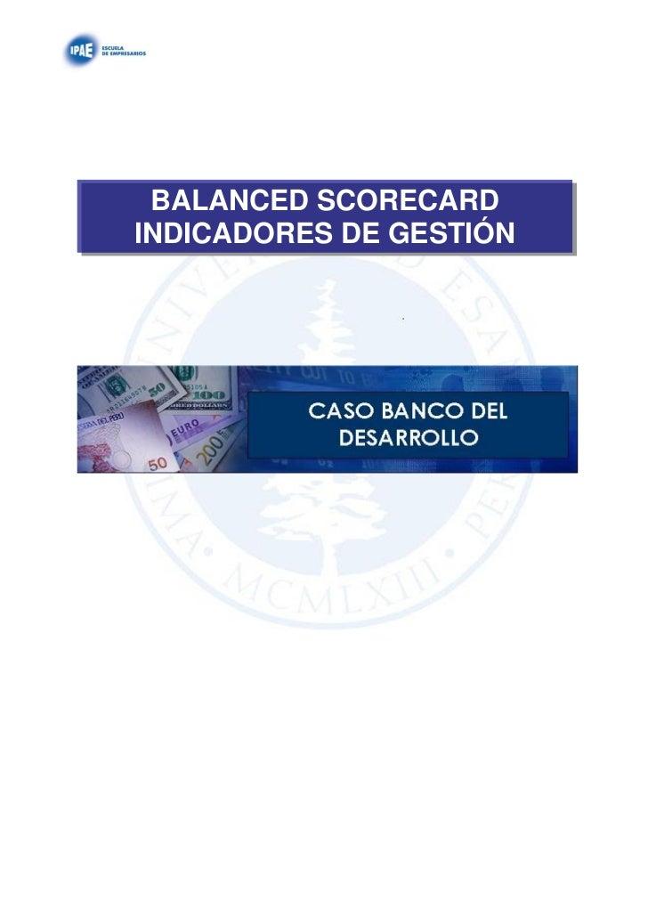 BALANCED SCORECARDINDICADORES DE GESTIÓN