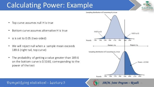 calculating power example demystifying statistics