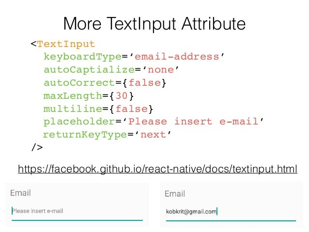 React Native Tutorial] Lecture 5: Input and State