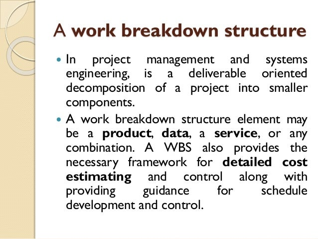 Lect-5: Work Breakdown Structure and Project Cost Estimation