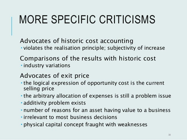 criticism of historical cost accounting